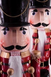 Close up of two nutcrackers