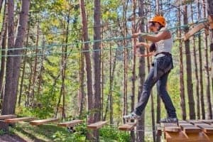 Ropes course attraction in Pigeon Forge