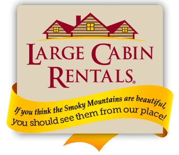 The Large Cabin Rentals logo