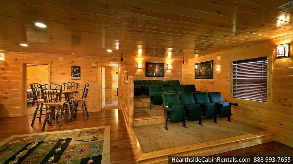 Grand View Lodge cabin in Pigeon Forge with home theater