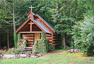 The Creekside Cove wedding chapel.