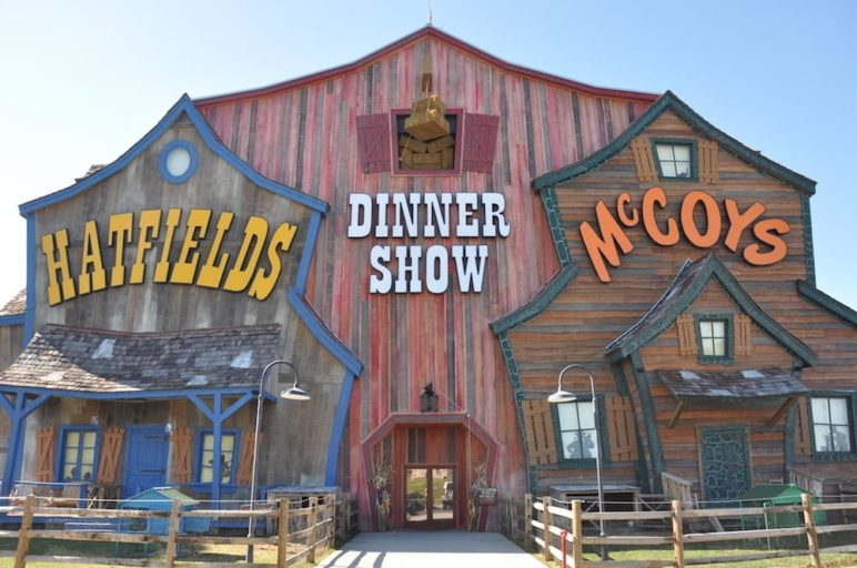 The outside of the Hatfield & McCoy show in Pigeon Forge.