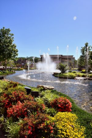 The fountains at The Island in Pigeon Forge