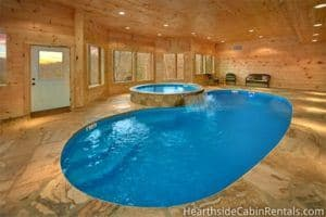 Indoor pool at Cooper Cove Pigeon Forge cabin rental