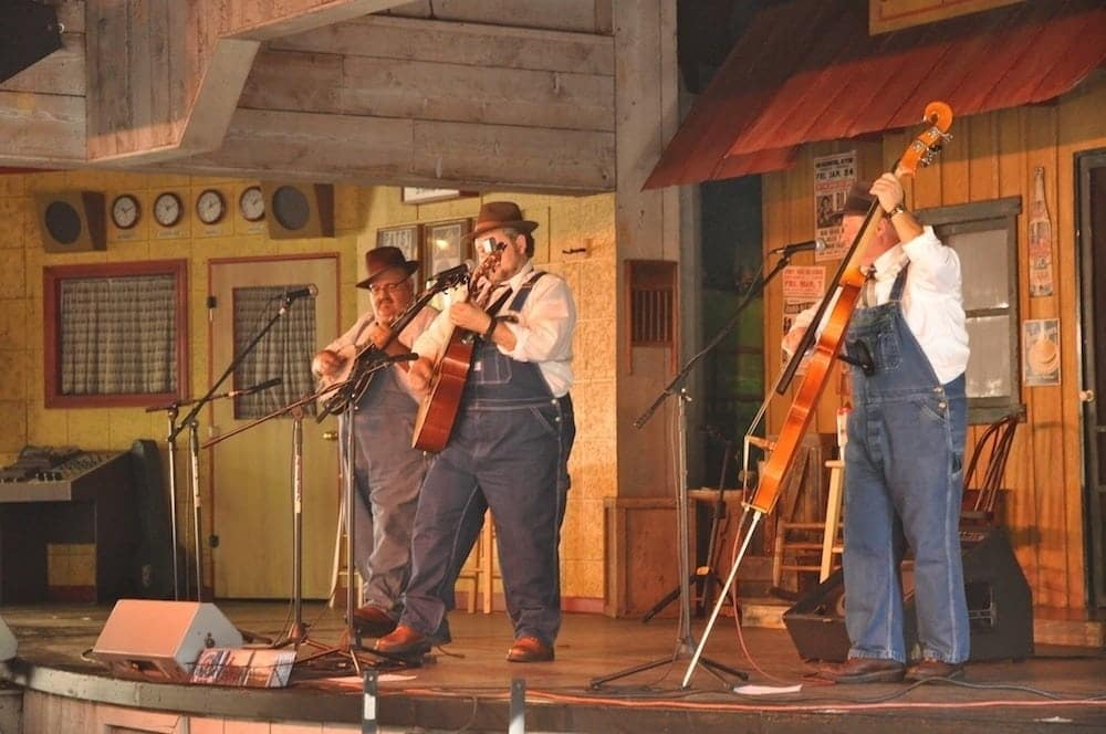 A bluegrass band performing at Dollywood.