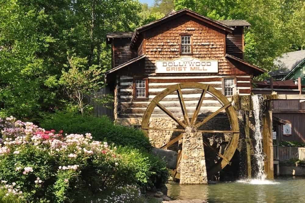 Scenic photo of the Dollywood Grist Mill.