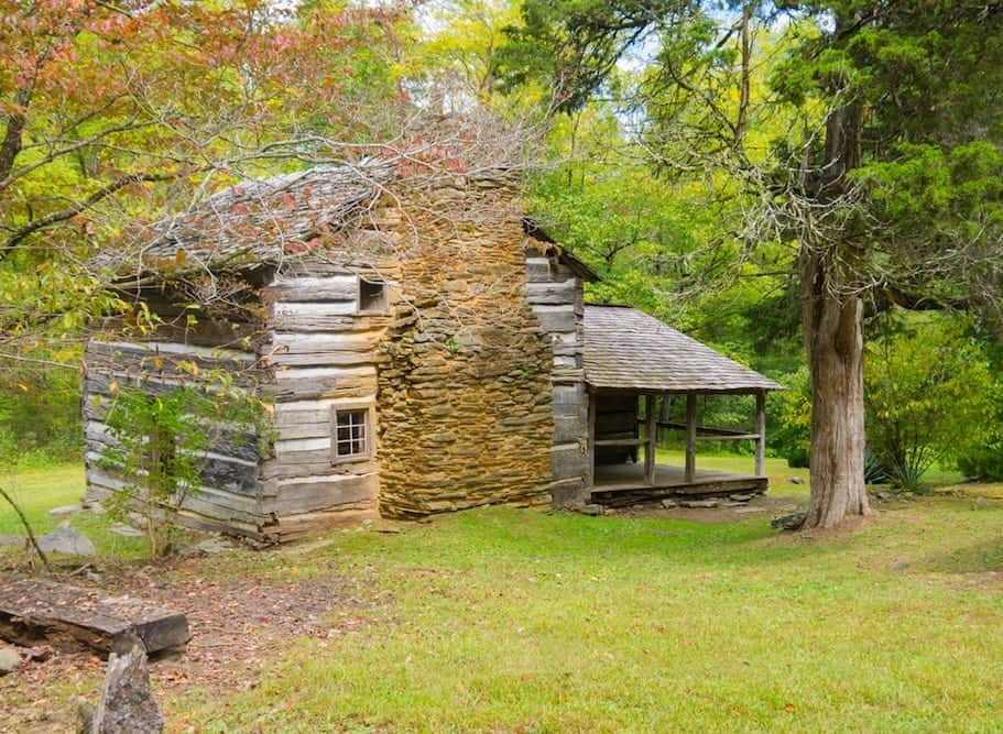 The Walker Sisters Cabin in the Smoky Mountains.