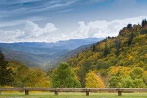 Incredible views of the Smoky Mountains from Newfound Gap Road.