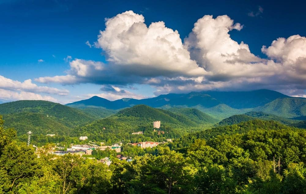Stunning view of Gatlinburg and the Smoky Mountains.