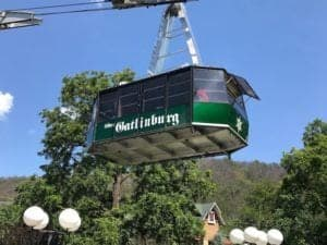 The Ober Gatlinburg Aerial Tramway.