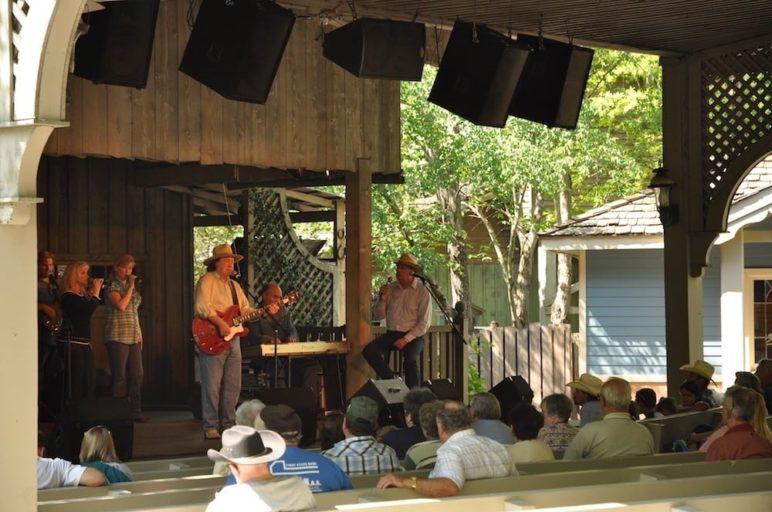A concert at Dollywood.