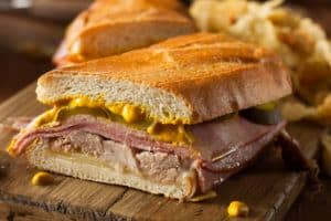 A tasty Cuban sandwich.