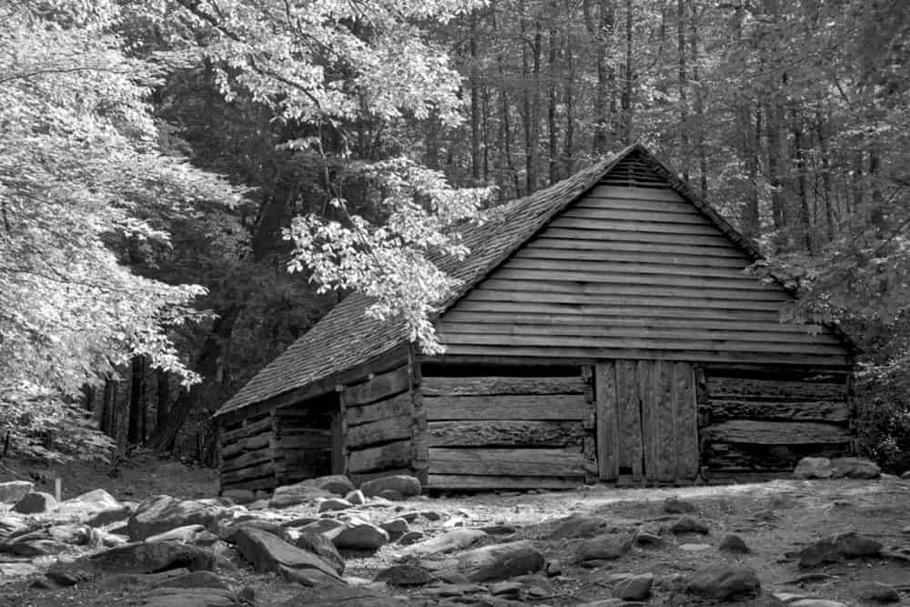 A historic cabin in Cades Cove.