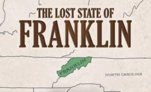 A map showing the location of The Lost State of Franklin.