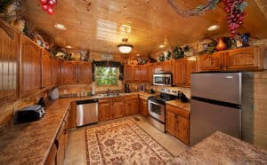 kitchen in a smoky mountain cabin